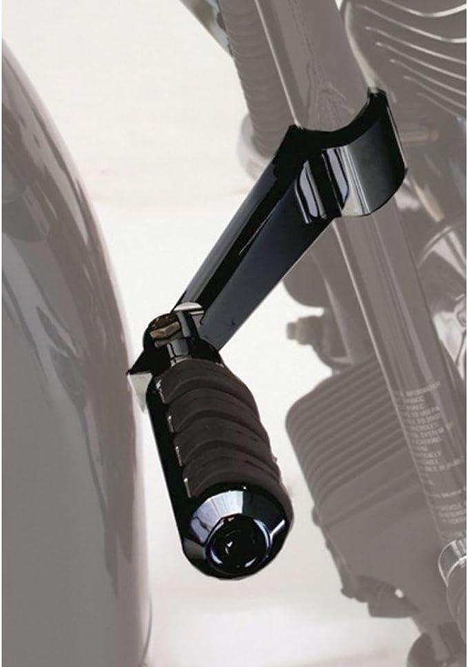 "Rivco Matte Black Speed Highway Pegs w// 5/"" Arm Mounts Fits 1.25/"" Highway Bars"
