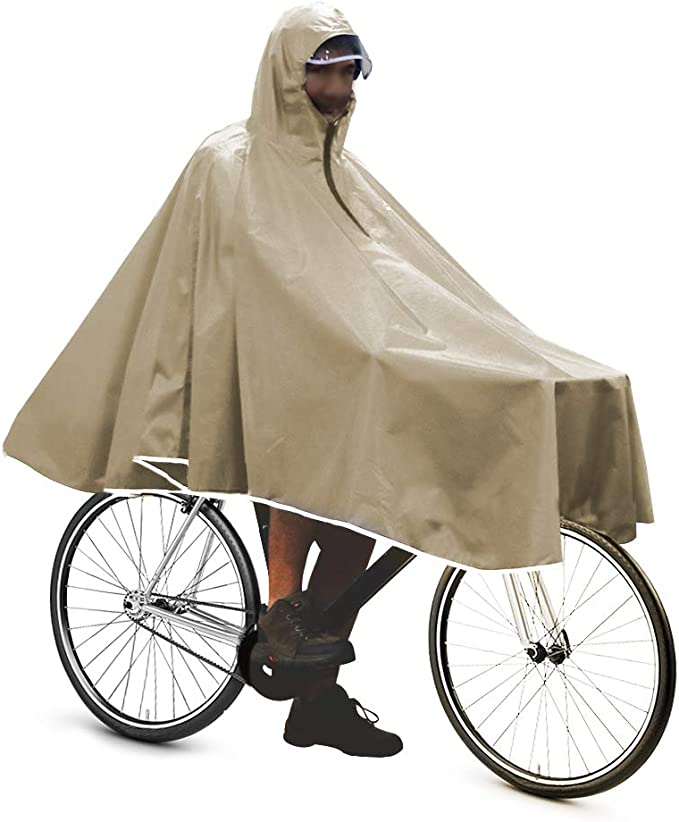 Anyoo Wasserdicht Radfahren Regen Poncho Portable Leichte Regenjacke Mit Kapuze Fahrrad Fahrrad Compact Regen Cape Wiederverwendbare Unisex f/ür Backpacking Camping Outdoors