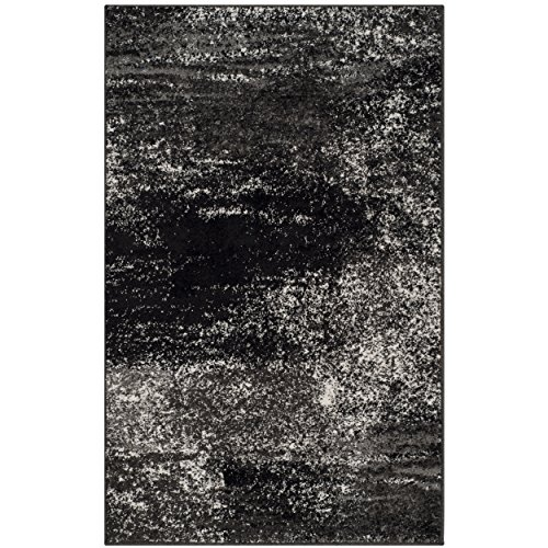 61utwxHRFkL - Safavieh Adirondack Collection ADR112A Silver and Black Modern Abstract Round Area Rug