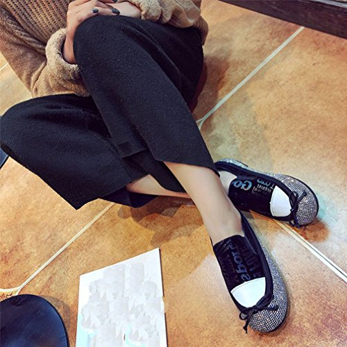 Damesmode Mode Strass Instappers Plateau Mocassin Ronde Neus Instapper Casual Jurk Loafer Oxford Schoenen Zwart
