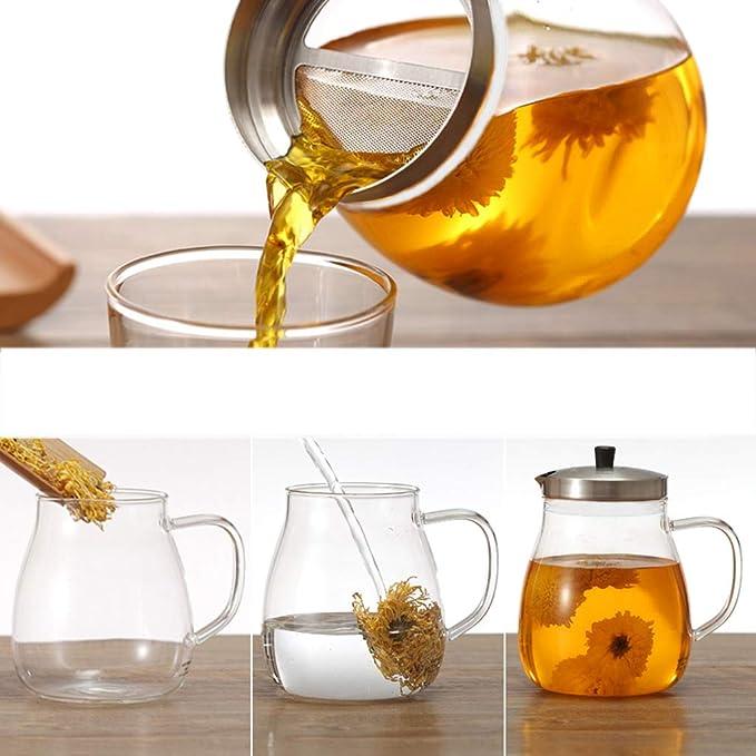 Kapazität : 200ml Teekanne ZHAOSHUNLI Edelstahl Hochtemperaturbeständige Glas Büro Filter Tee-Set Tee- & Kaffeekannen Kaffee, Tee & Espresso