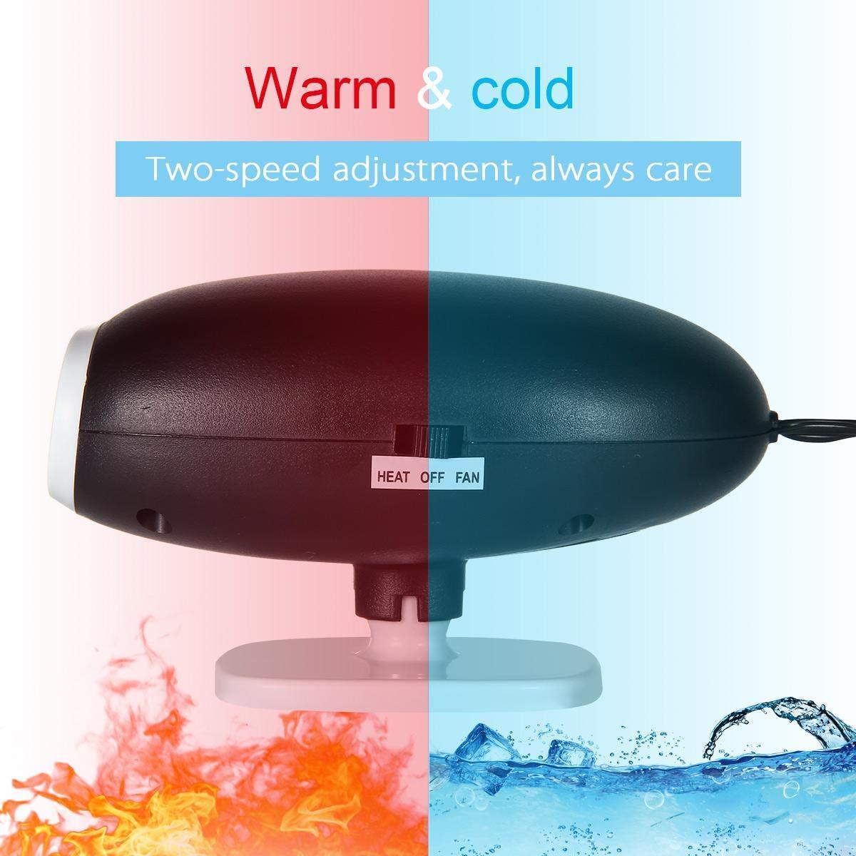 LANSONTECH Aggiornamento del riscaldatore per auto 2019 12V 150W Sbrinatore per auto Sbrinatore Lo sbrinatore si inserisce nellaccendisigari Nero