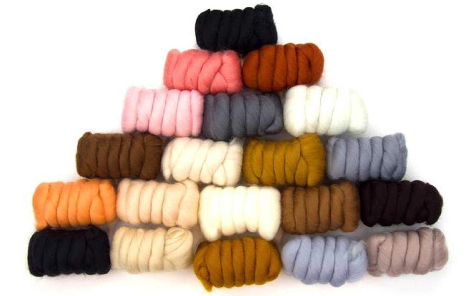 GoatsMagosh 20 Color Assortment, Merino Wool/Combed Top/Roving 500 Grams - Cuddly Critters