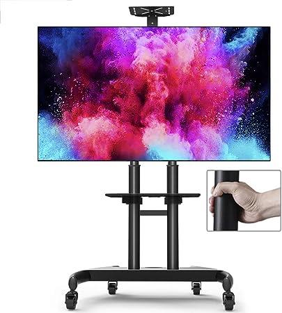 Xue-shelf Caja de laminación TV con Ruedas, Soporte para TV de Pantalla Plana de 32-70 Pulgadas de Pantalla LCD LED TV Plana televisores de Plasma de televisión por Cable Monitores de Experiencia: