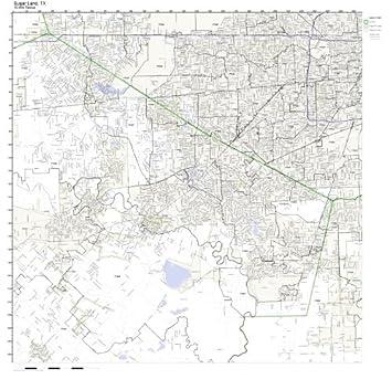 Sugar Land Tx Zip Code Map.Amazon Com Sugar Land Tx Zip Code Map Not Laminated Home Kitchen