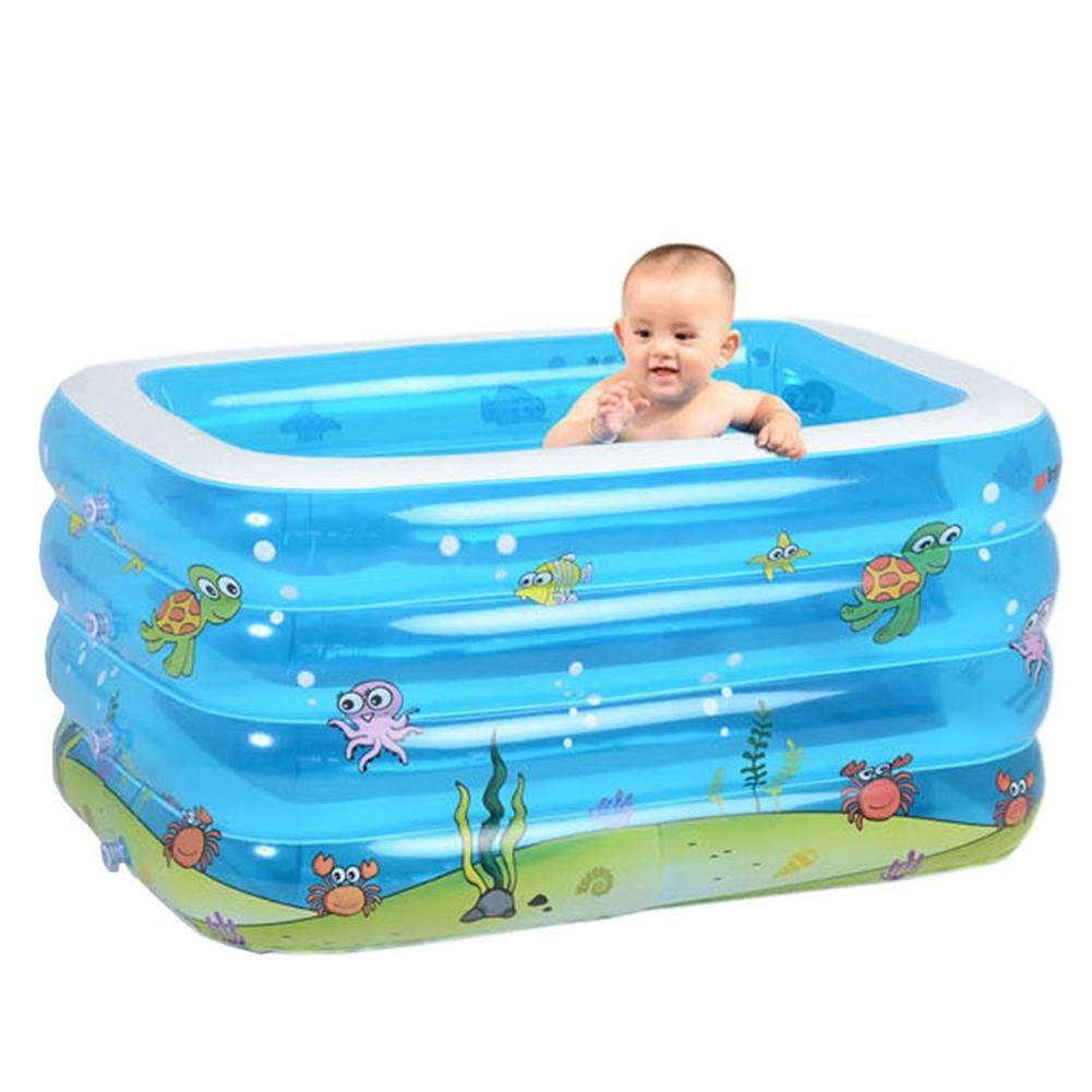 DU&HL Inflatable Bathtub Family Swimming Pool, Ocean Living Pool