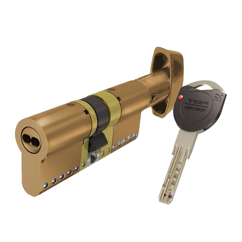 Doble Embrague 0 W Tesa Assa Abloy TK153030N Niquelado Leva Larga 0 V 30 x 30 mm Cilindro de Alta Seguridad TK100
