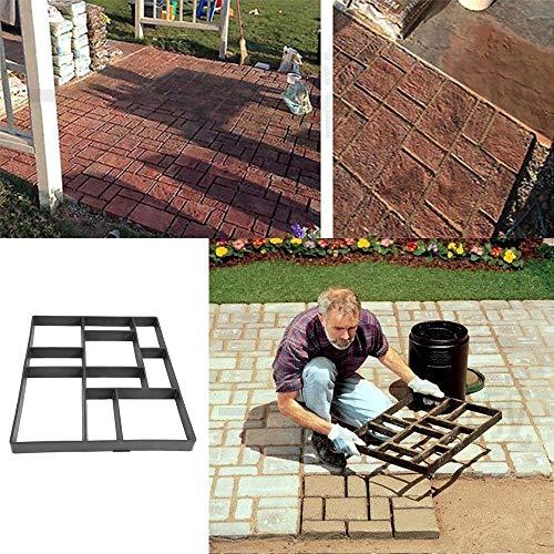 Paving Brick Path Making Mold, Pavement Shape Concrete Pavement Mould Garden Template 60 X 50x 4 cm