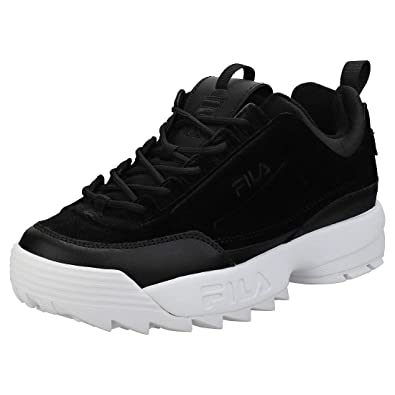 57c9046bab8 Fila Disruptor II Premium Velour Femme Baskets Mode Noir  Amazon.fr ...
