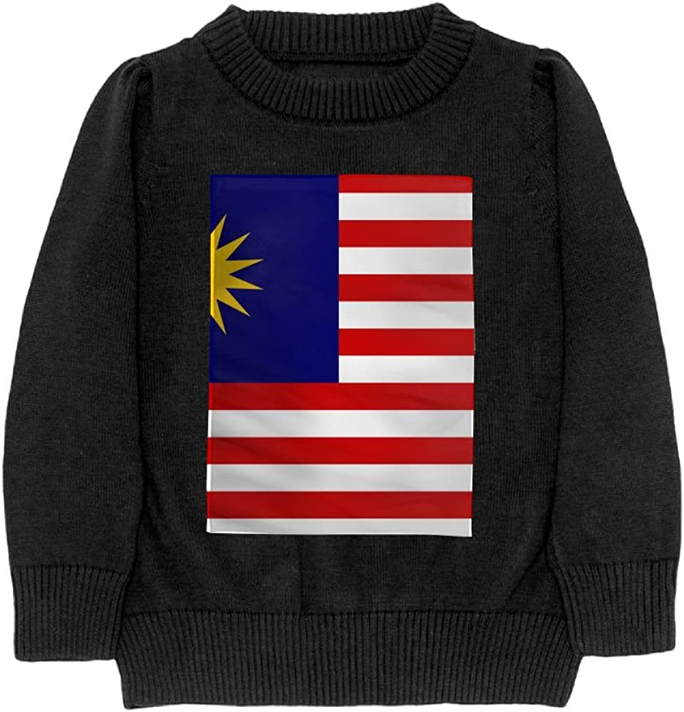 DTMN7 Flag Of Malaysia Teens Sweater Long Sleeves Crew-Neck Youth Athletic Casual Tee Junior Boys