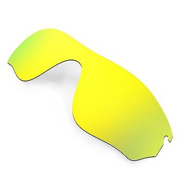 da86b33463e Hkuco Mens Replacement Lenses For Oakley RadarLock Pitch Sunglasses 24K  Gold Polarized