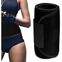 Elite Fitness Faja Deportiva de sudoracion y Soporte, Faja para Abdomen y Espalda, Efecto Sauna, moldea y Reduce la Cintura, Ideal para Gym, Cardio, y Crossfit