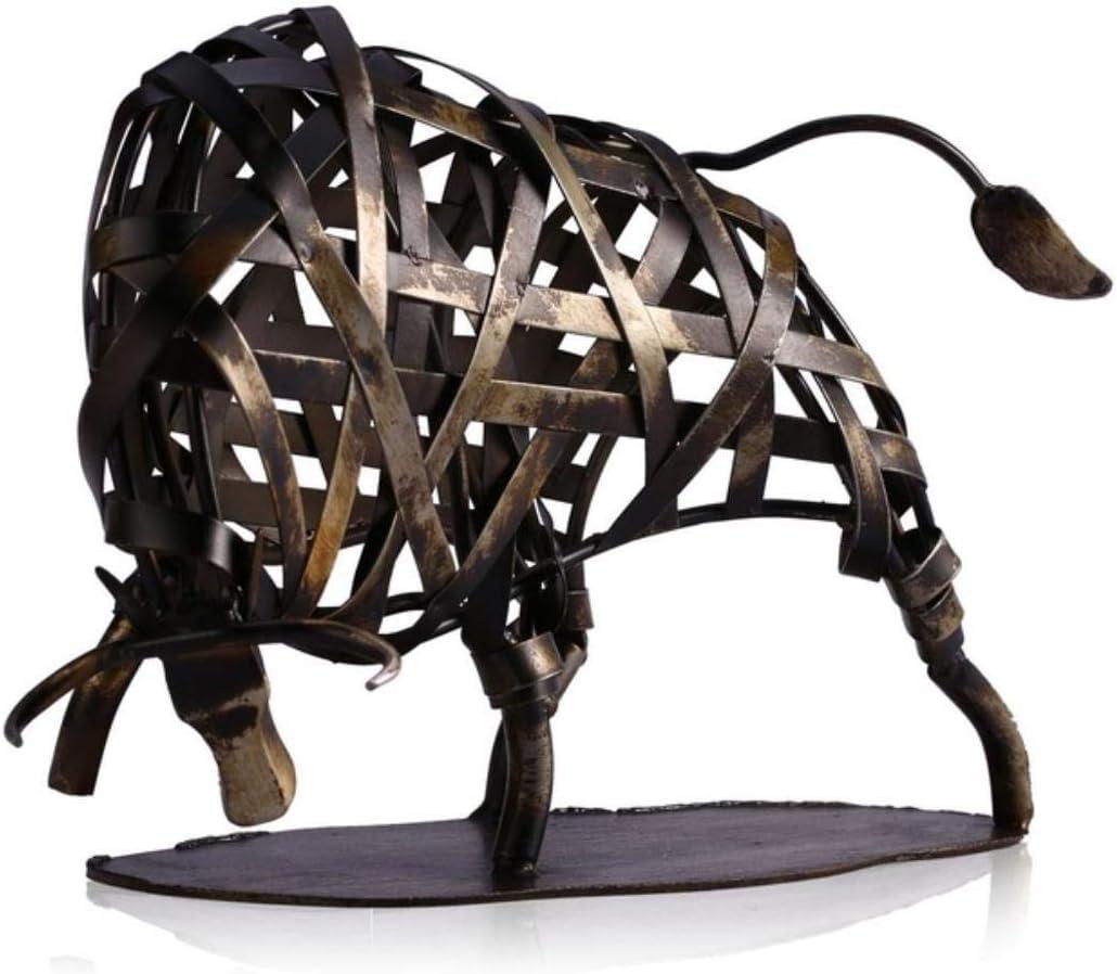 OYQQ Escultura de Metal Tejidos de Hierro, Suministros ganaderos para el hogar, artesanía, decoración Artesanal, Accesorios para el hogar, Regalos, Color Metal, federación