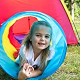 Dome and Tunnel Play Tent Set for Children - Kids Pop Up Play Tent with Tunnel for Indoor & Outdoor Use - New & Improved Design