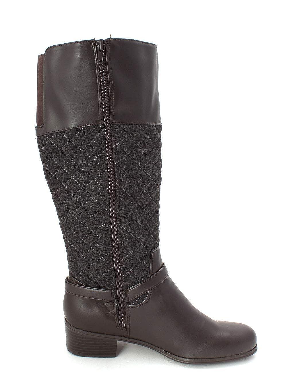 Size 7.5 Charter Club Thalia Sodi Womens Helenn2 Fabric Closed Toe Mid-Calf Brown//Grey