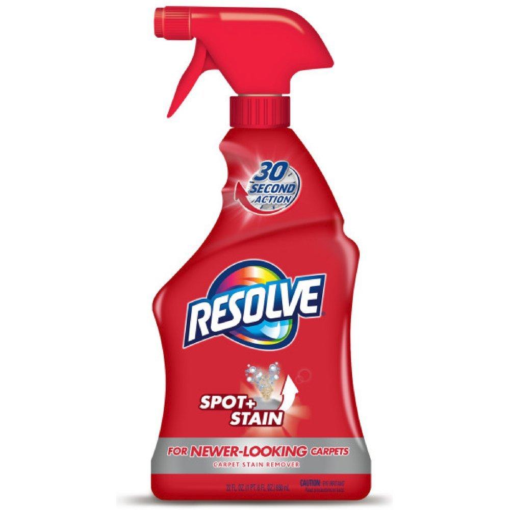 Resolve Carpet Spot & Stain Remover, 22 fl oz Bottle, Carpet Cleaner (Pack of 6)