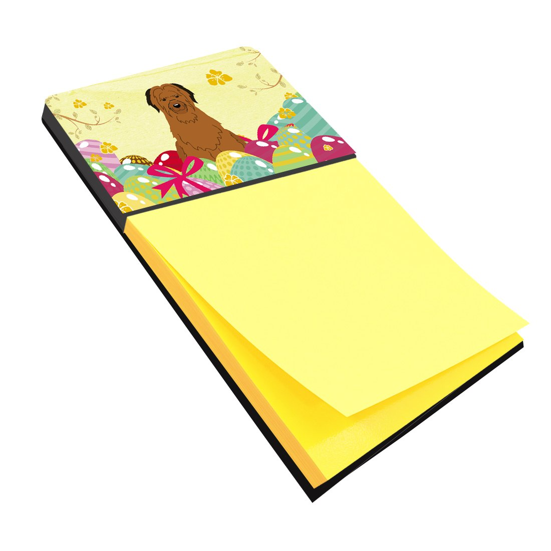 Self Stick Note Pad Holders Home Kitchen Multicolor Carolines Treasures Bb6082sn Easter Eggs Briard Brown Sticky Note Holder Large