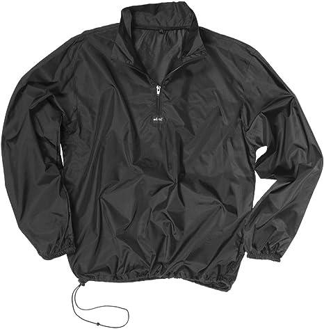 Mil-Tec - Camiseta cortavientos, color negro