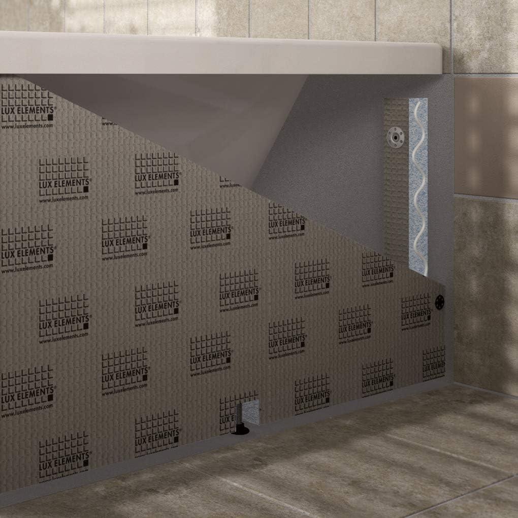 LUX ELEMENTS Kit de montage pour baignoire Blanc