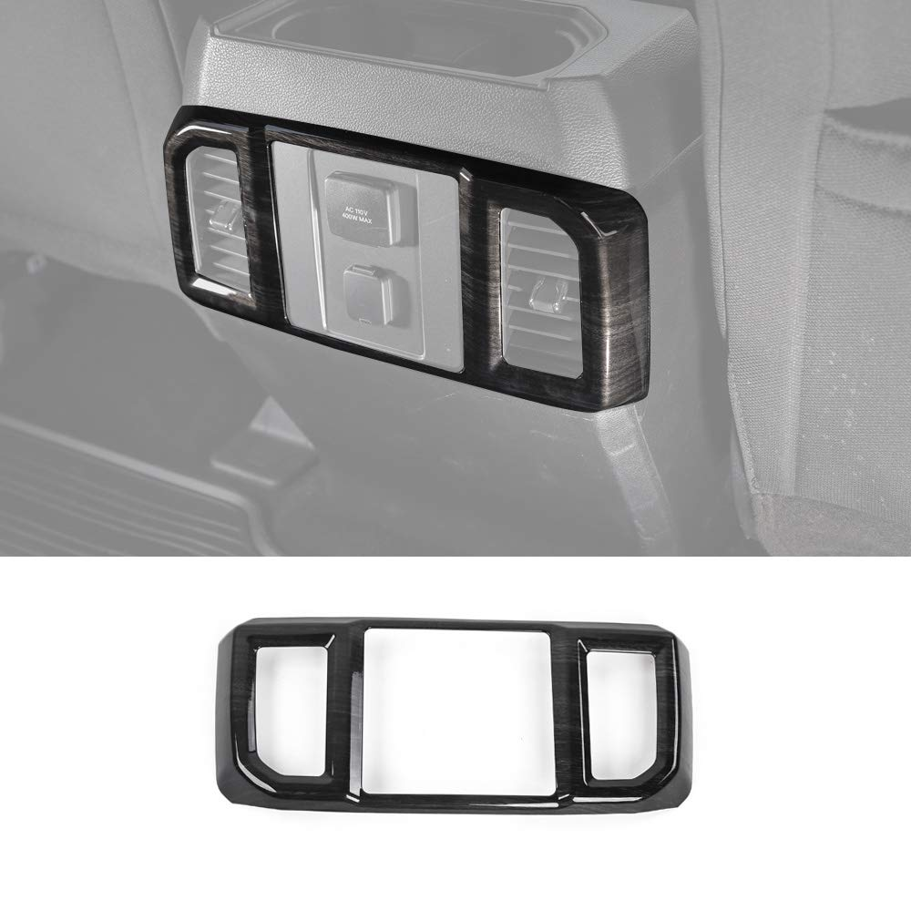 Voodonala Black Grain Central Air Condition Control Panel Covers for Ford F150 2015 2016 2017