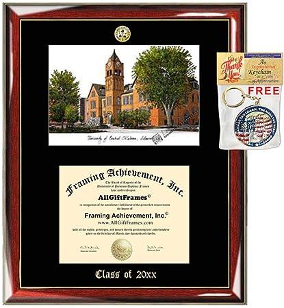 University Of Central Oklahoma Diploma Frame Diploma Lithograph Major Logo Uco Diploma Display Degree Emboss Graduation Award Graduate Gift University Frames Sports Outdoors