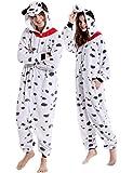 vavalad Dalmatian Adult Animal Costume Cosplay Pajamas For Women Men
