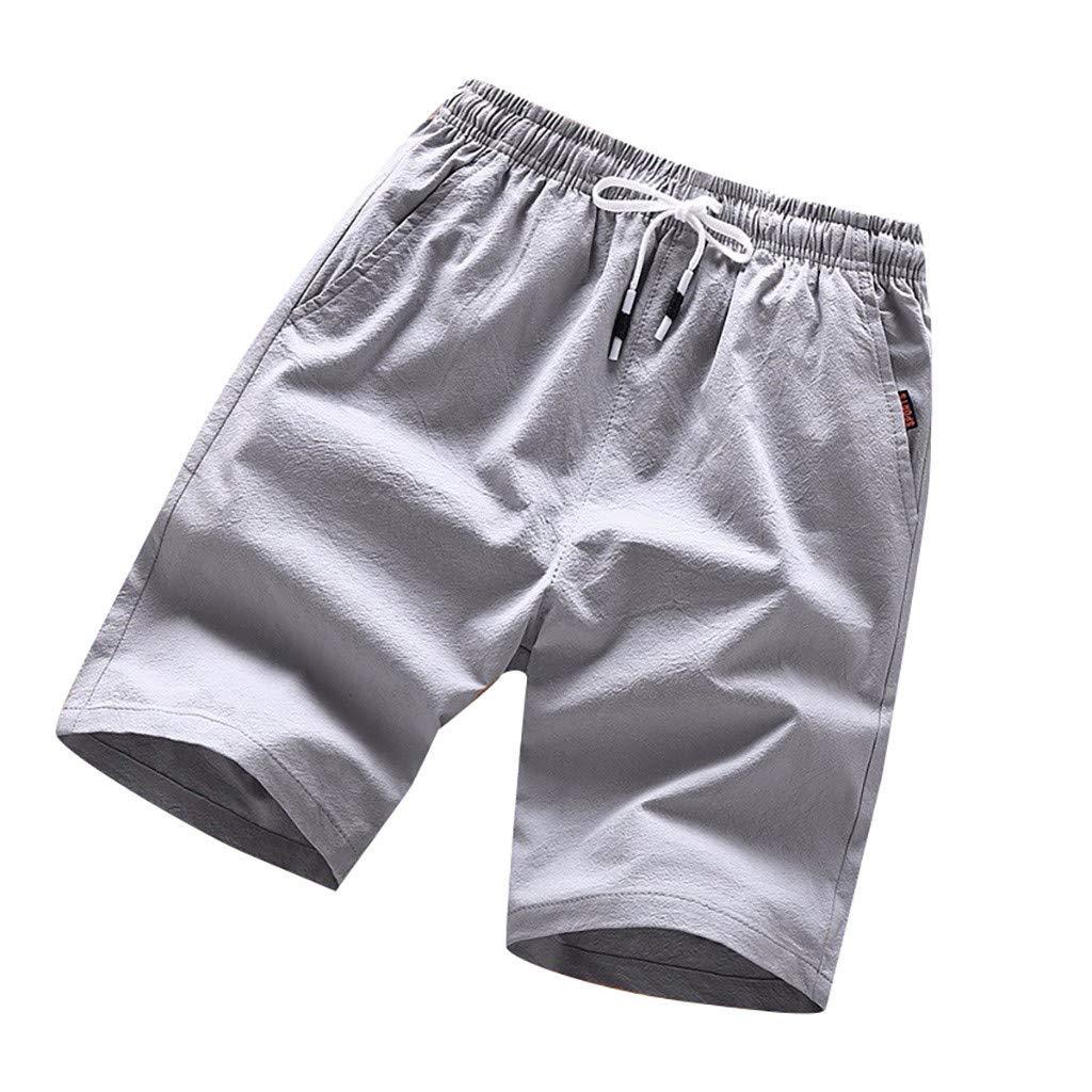 PARVAL Pantalones Cortos de Color s/ólido de Verano para Hombres con Pantalones Cortos Pantalones de Senderismo Holgados para para Exteriores Transpirables Pantalones de Secado r/ápido