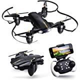 JoyGeek Drone with Camera, Foldable FPV RC Quadcopter for Adults Boys Toys kids Beginners Gift, Wifi Live Video VR 2.4GHz 6-Axis Gyroscope Aircraft Altitude Hover Remote Control for iPhone Android