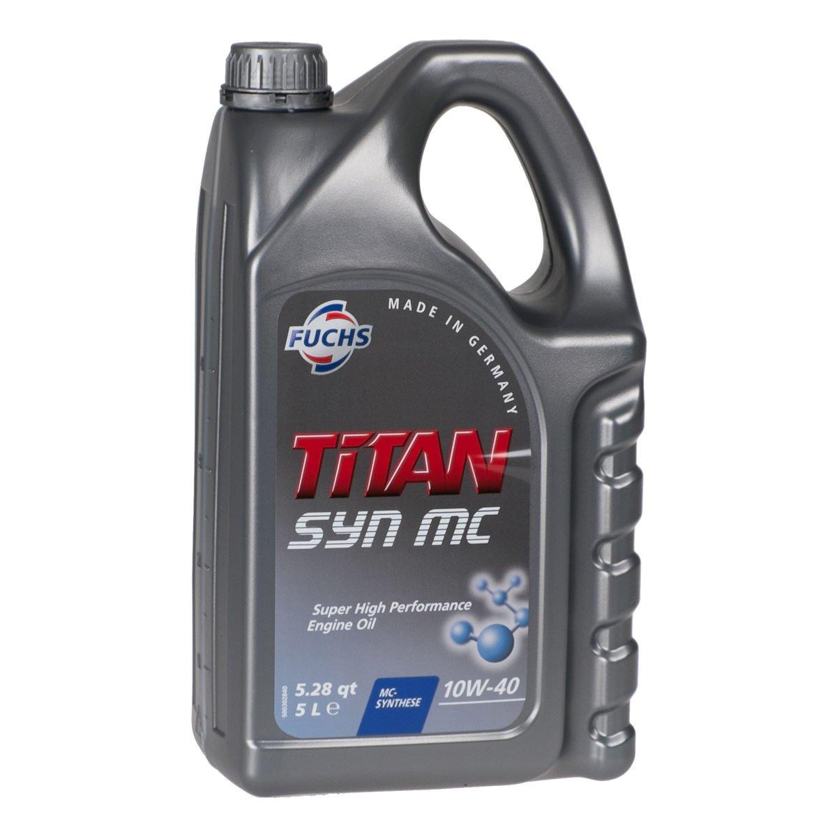 TITAN SYN MC - Aceite para motor de coche 10W-40, 5L: Amazon.es: Coche y moto