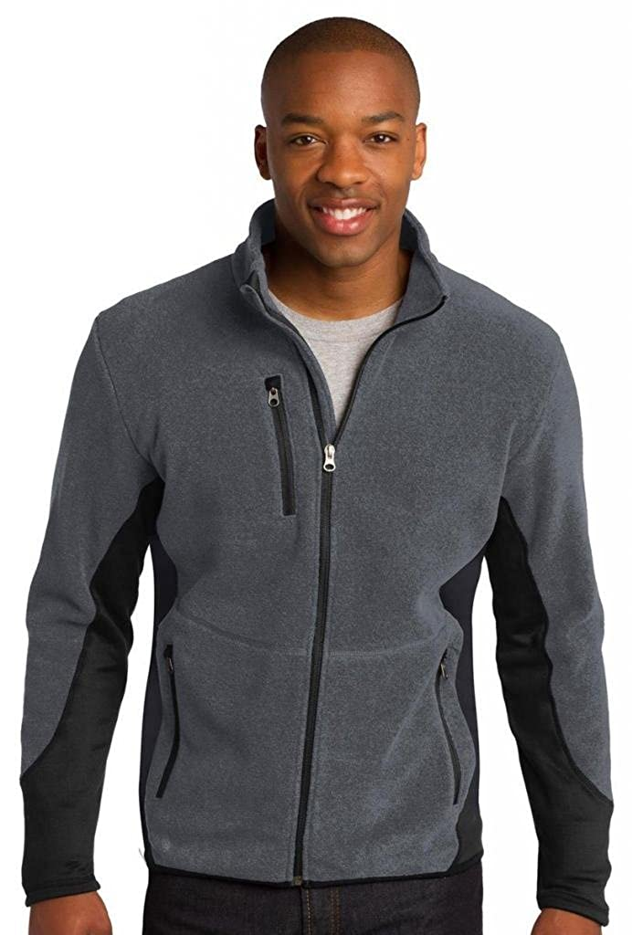 Port Authority Mens Performance Fleece Full-Zip Jacket Charcoal Heather X-Small