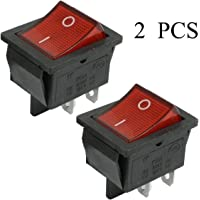 CNluca for 2 Piezas KCD4 DPST ON-Off 4 Pin Rocker Boat Switch 15A / 20A AC 250V / 125V AD
