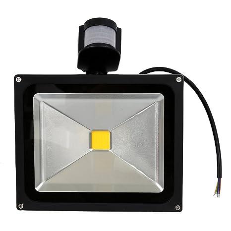 TOOGOO(R) 30W LED Lampara luz de inundacion del sensor de movimiento PIR Blanco