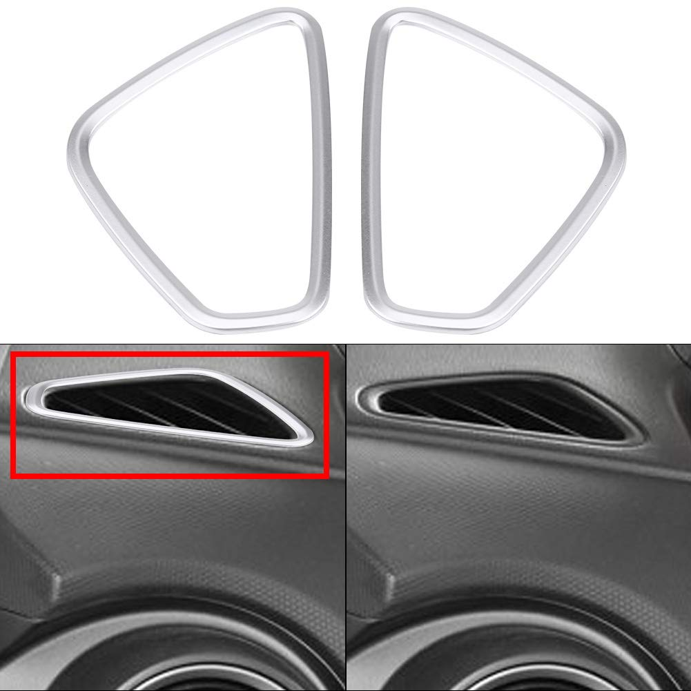 Matte Silver Front Side Air Vent Cover Trim Anteriore Air Vent Trim Cover Frame