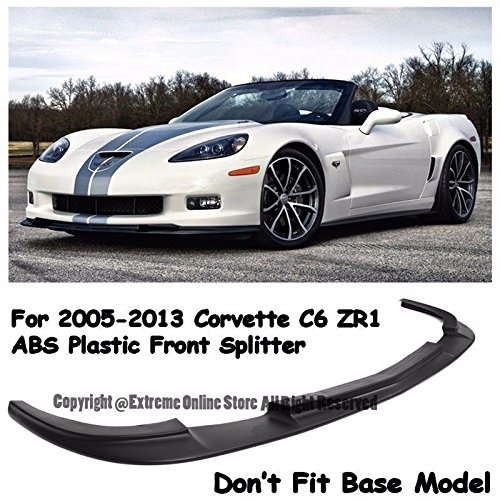 - ZR1 Style ABS Plastic Black Front Bumper Lower Lip Kit Splitter Spoiler Wing For 05-13 Chevrolet Corvette C6 Z06 2005 2006 2007 2008 2009 2010 2011 2012 2013 05 06 07 08 09 10 11 12 13 Chevy