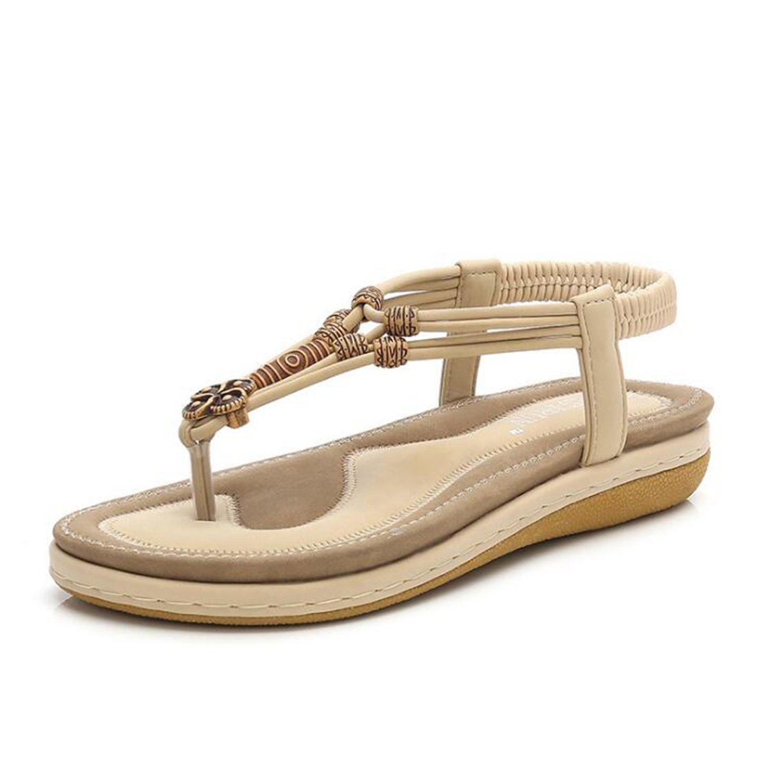 Frauen Sommer Sandalen Mode Rouml;mischen Sandalen Plateau Sandalen Sandalen  41 EU|Apricot