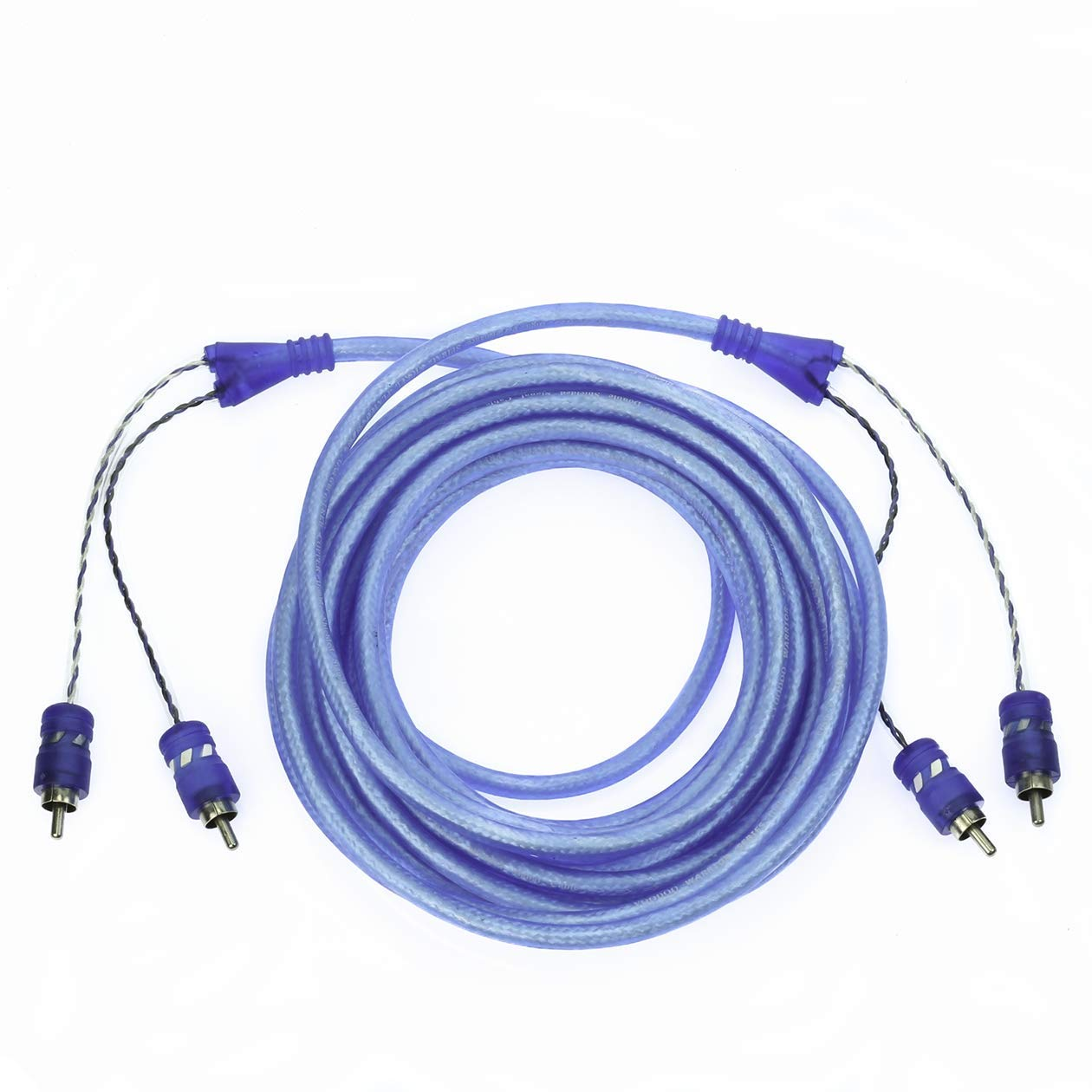 VooDoo 20 ft 6 Meter RCA Interconnect Cable Blue OFC Copper 12Volt Distributors