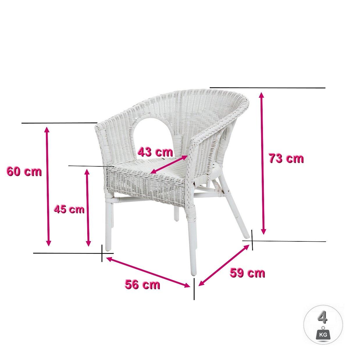 Rotin Design REBAJAS : -49% Lote de 2 sillones de mimbre ...