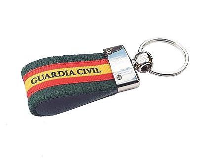 LGP - Llavero Bandera DE ESPAÑA de Lona Verde, Guardia Civil