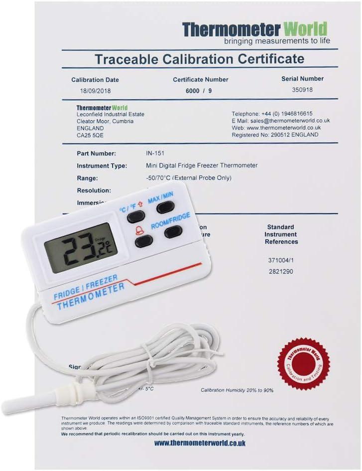 Calibrated termómetro digital para frigorífico y congelador con ...