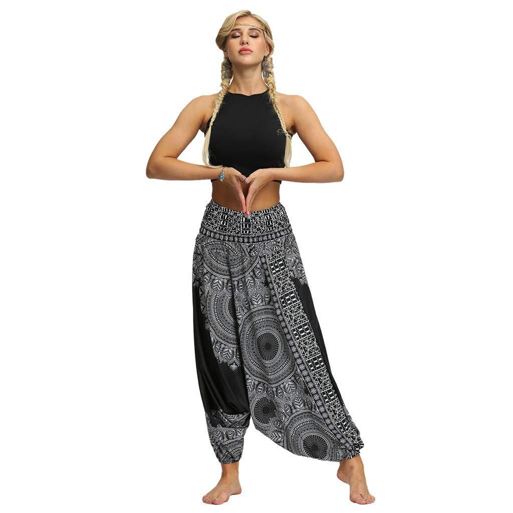 Damen Hosen Sommerhose Pumphose Yoga Lose Baggy Feibeauty Haremshose OiXTZuPk