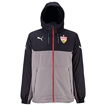 Puma VfB Stuttgart Bench Jacket steel gray puma black
