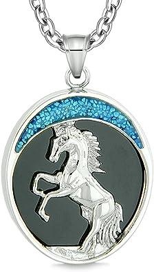Valor Caballo Salvaje Luna Poderes De Proteccion Mustang Amuleto