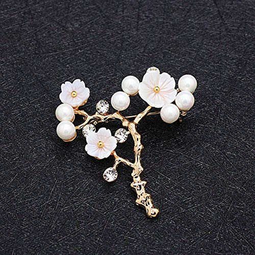 (Natural Shell Carved Flower Fresh Water Handmade Pearl Brooch Pins Necklace Bracelet Jewelry)