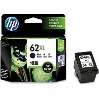 HP 62XL High Yield Original Black Ink Cartridge, Black (C2P05AA)