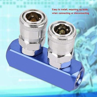sourcingmap/® Rosca Hembra Bsp 1//4 X 33//64 Tubo Conector Identificaci/ón De 2 Maneras R/ápido Pass Acoplador De Conexi/ón