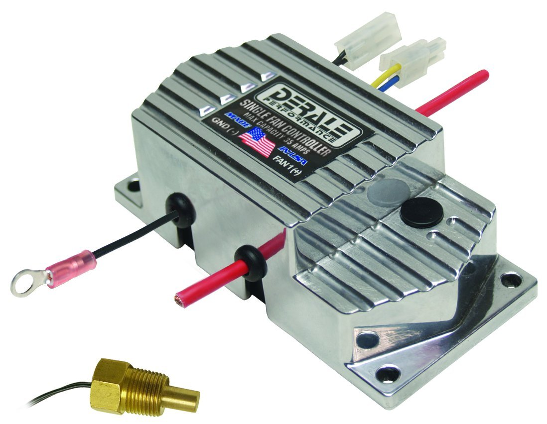 Derale 16779 High Amperage Single Fan Controller with 3/8' NPT Thread In Probe