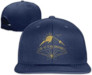 Yishuo Mens New Adventures Classic Football White Caps Hats Adjustable Snapback