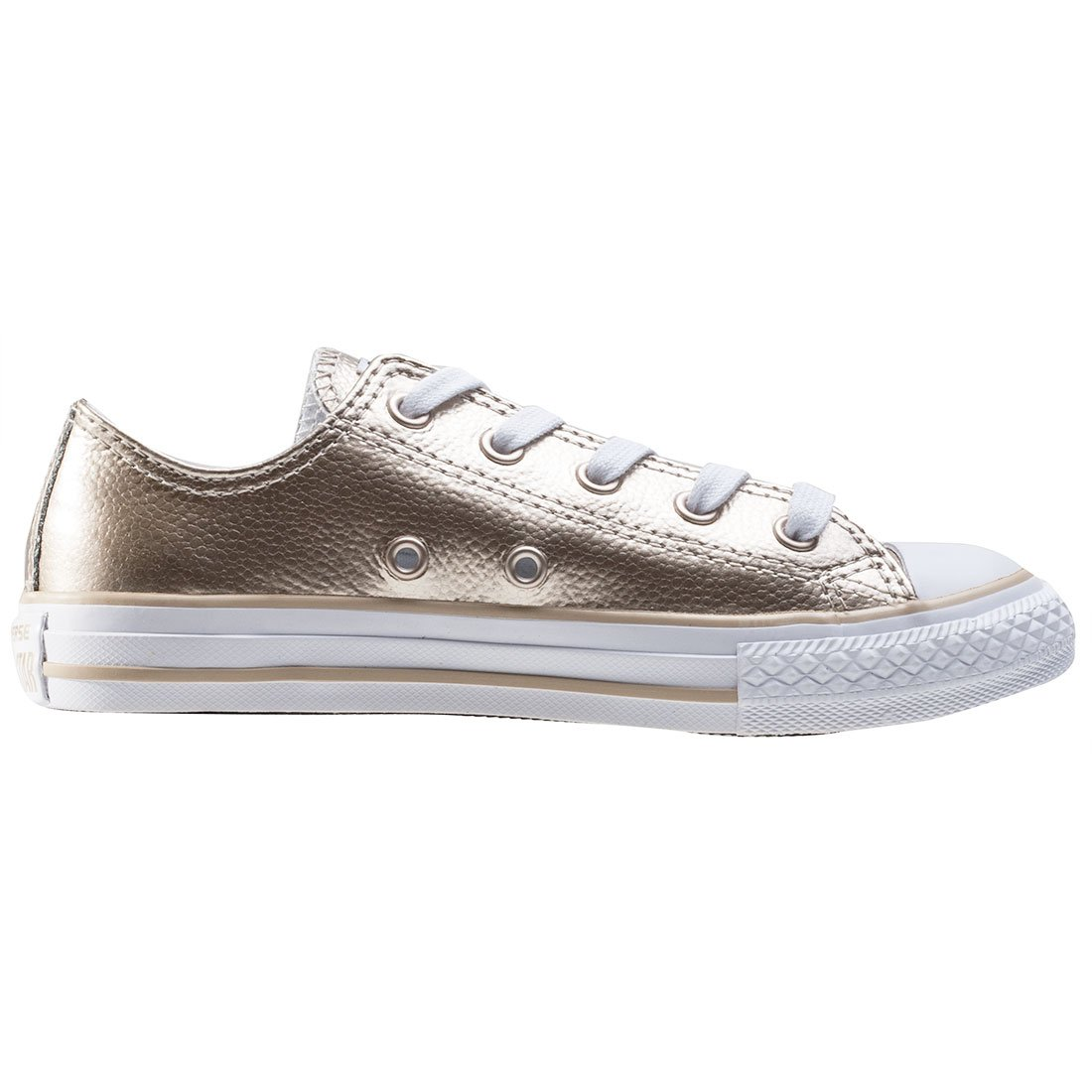 98c21b53ff79ec Amazon.com  Converse Chuck Taylor All Star Metallic Ox Light Gold Leather  11.5 M US Little Kid  Shoes