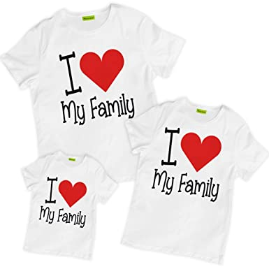 Amazoncom Picontshirt Matching Family I Love My Family T Shirts