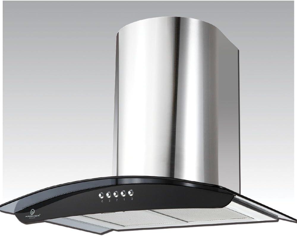 60 cm – Campana de acero inoxidable curvado de cristal ahumado dc73.6s: Amazon.es: Grandes electrodomésticos
